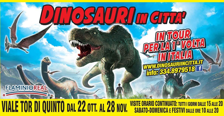 Dinosauri in Città a Roma Tor di Quinto